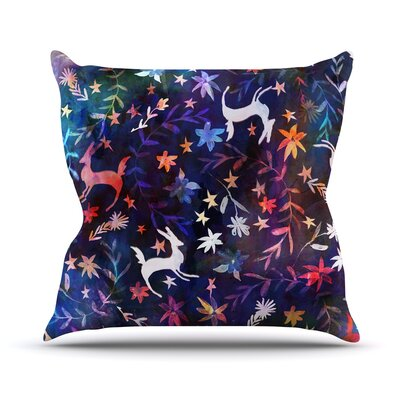Watercolour Folk by Nikki Strange Rainbow Throw Pillow Size: 26 H x 26 W x 5 D