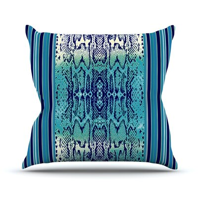 Aqua Snake by Nina May Throw Pillow Size: 16 H x 16 W x 3 D