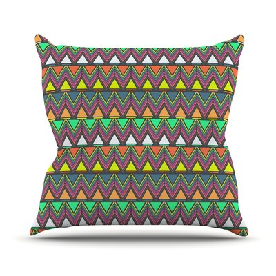 Play by Nandita Singh Rainbow Chevron Throw Pillow Size: 20