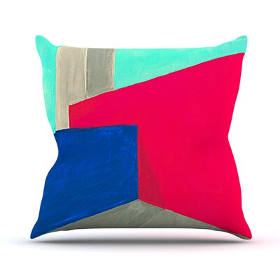 Corner by Oriana Cordero Geometry Throw Pillow Size: 26 H x 26 W x 5 D