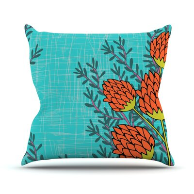 Flowers by Nandita Singh Throw Pillow Size: 16 H x 16 W x 3 D