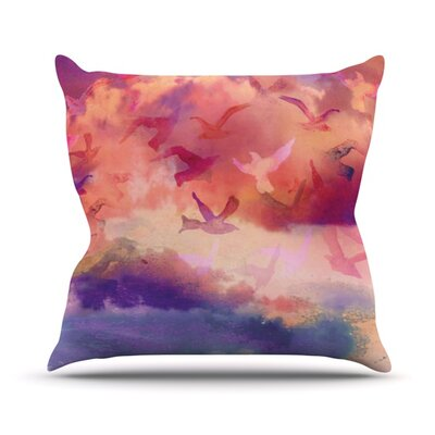 Souffle Sky Throw Pillow Size: 18 H x 18 W