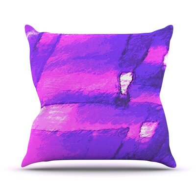 Suenos en Purpura by Oriana Cordero Throw Pillow Size: 26 H x 26 W x 5 D