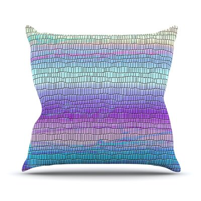 Drip Dye Cool Strid by Nina May Geometry Throw Pillow Size: 20 H x 20 W x 4 D