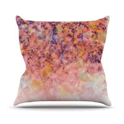 Blushed Geometric Throw Pillow Size: 18 H x 18 W