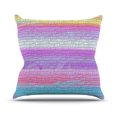 Drip Dye Warm Strid by Nina May Throw Pillow Size: 26 H x 26 W x 5 D