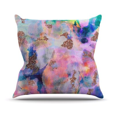 Sparkle Mist Throw Pillow Size: 18 H x 18 W