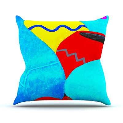 Terracotta by Oriana Cordero Throw Pillow Size: 20