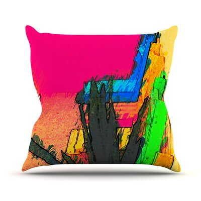 Days of Summer by Oriana Cordero Rainbow Abstract Throw Pillow Size: 18 H x 18 W x 3 D