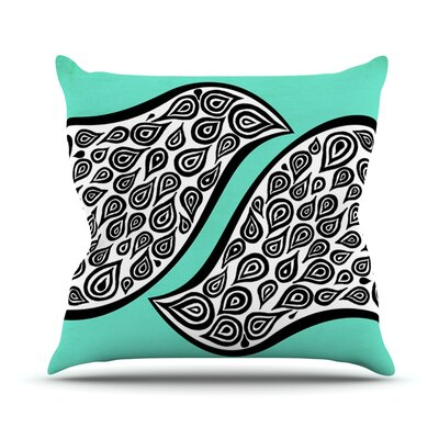 Two Romantic Birds by Pom Graphic Abstract Throw Pillow Size: 16 H x 16 W x 3 D
