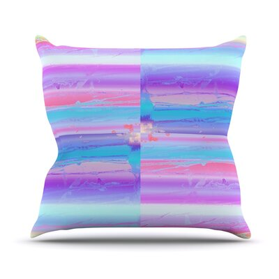 Drip Dye by Nina May Paint Throw Pillow Size: 20 H x 20 W x 4 D