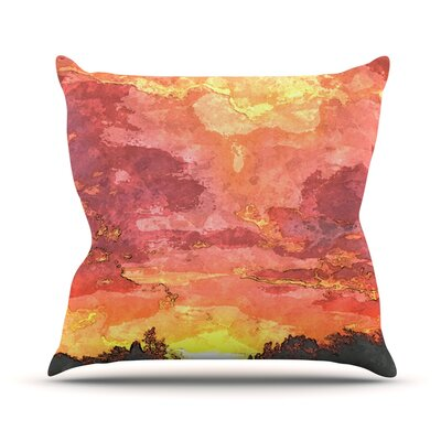 Horizon by Oriana Cordero Sky Throw Pillow Size: 16 H x 16 W x 3 D