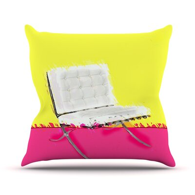 Barcelona Chair by Oriana Cordero Throw Pillow Size: 18 H x 18 W x 3 D