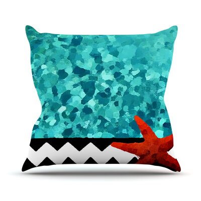 Turquoise Ocean by Oriana Cordero Throw Pillow Size: 20 H x 20 W x 4 D
