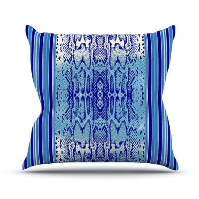 Delf Snake by Nina May Throw Pillow Size: 16 H x 16 W x 3 D