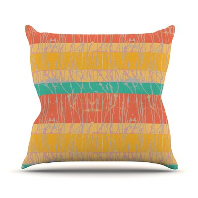 Splatter by Nina May Throw Pillow Size: 18 H x 18 W x 3 D, Color: Orange