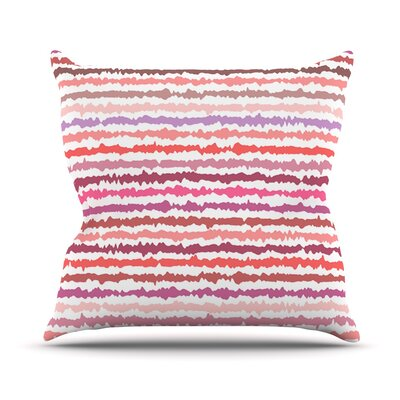 Blush Stripes by Nandita Singh Striped Throw Pillow Size: 16 H x 16 W x 3 D