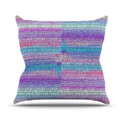 Drip Dye Strid by Nina May Abstract Throw Pillow Size: 18 H x 18 W x 3 D