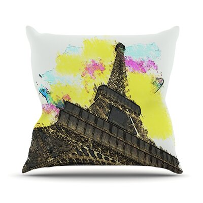Eifel - Bon Jour by Oriana Cordero Pairs Throw Pillow Size: 20 H x 20 W x 4 D