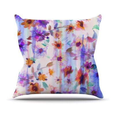 Floral Ombre by Nikki Strange Throw Pillow Size: 16