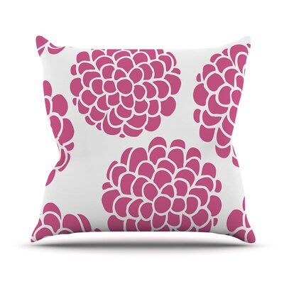 Raspberry Blossoms by Pom Graphic Throw Pillow Size: 18 H x 18 W x 3 D