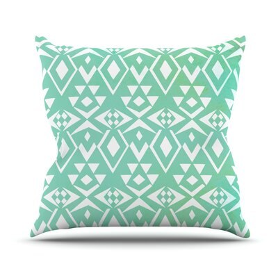 Ancient Tribe by Pom Graphic Seafoam Throw Pillow Size: 18 H x 18 W x 3 D