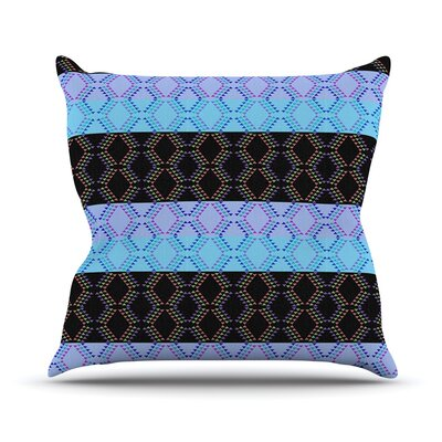 Denin Diamond by Nina May Throw Pillow Size: 20 H x 20 W x 4 D