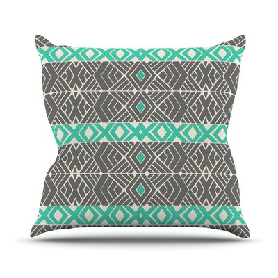 Going Tribal by Pom Graphic Throw Pillow Size: 18 H x 18 W x 3 D