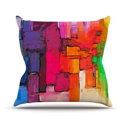 Interlace by Oriana Cordero Throw Pillow Size: 16 H x 16 W x 3 D
