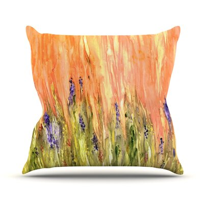 Welcome Spring by Rosie Brown Throw Pillow Size: 16