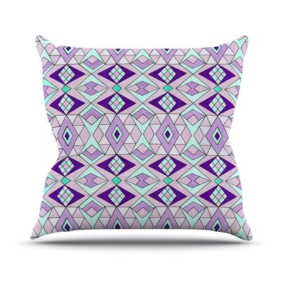 Geometric Flow Pom Graphic Geometric Throw Pillow Size: 16 H x 16 W x 3 D