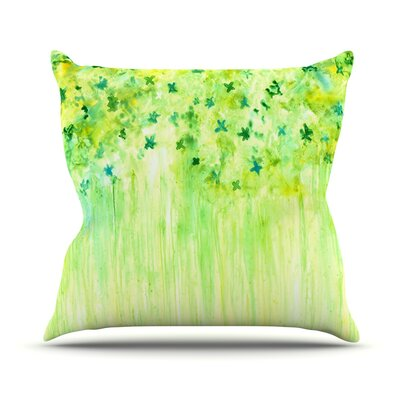 April Showers by Rosie Brown Throw Pillow Size: 18 H x 18 W x 3 D