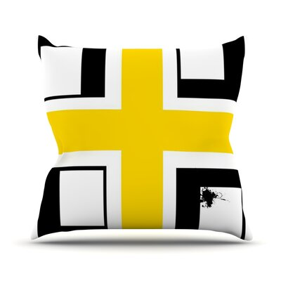 Across by Oriana Cordero Throw Pillow Size: 26 H x 26 W x 5 D