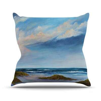Summer Showers by Rosie Brown Beach Throw Pillow Size: 16 H x 16 W x 3 D