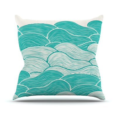 The Calm and Stormy Seas by Pom Graphic Throw Pillow Size: 18 H x 18 W x 3 D