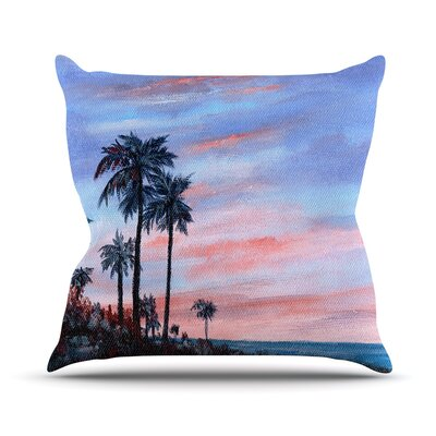 Florida Sunset by Rosie Brown Palm Tree Throw Pillow Size: 16 H x 16 W x 3 D
