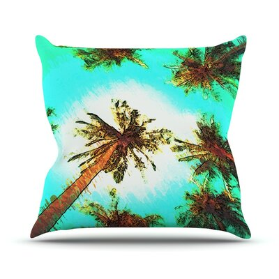 Paradise by Oriana Cordero Trees Throw Pillow Size: 26 H x 26 W x 5 D
