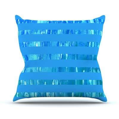 Wet Wild Stripes by Rosie Brown Throw Pillow Size: 20 H x 20 W x 4 D