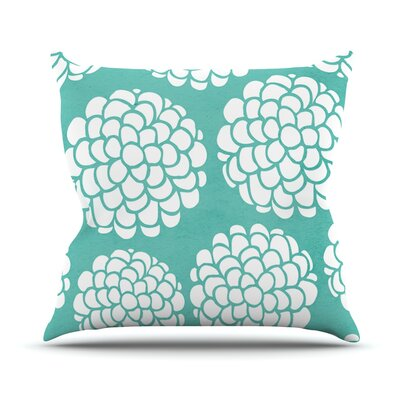 Hydrangeas Blossoms by Pom Graphic Throw Pillow Size: 18 H x 18 W x 3 D