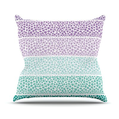 Riverside Pebbles Colored by Pom Graphic Throw Pillow Size: 26 H x 26 W x 5 D