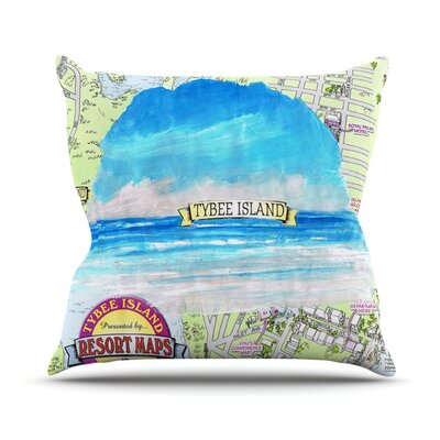 Tybee Island by Rosie Brown Ocean View Throw Pillow Size: 18 H x 18 W x 3 D