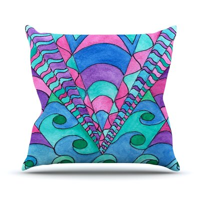 Gatsby Inspired by Rosie Brown Throw Pillow Size: 16 H x 16 W x 3 D