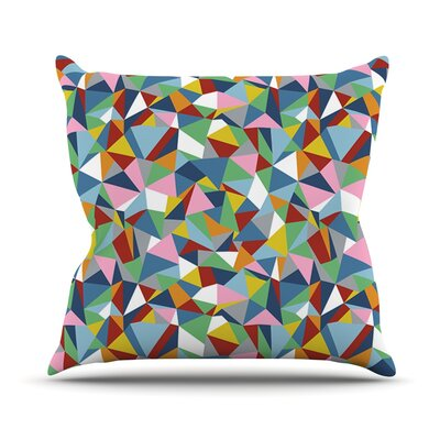 Abstraction by Project M Rainbow Abstract Throw Pillow Size: 18 H x 18 W x 3 D