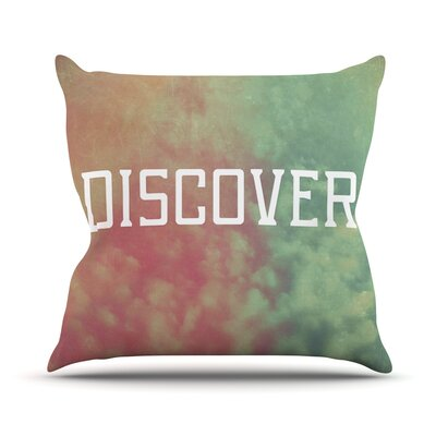 Discover by Rachel Burbee Throw Pillow Size: 18 H x 18 W x 3 D