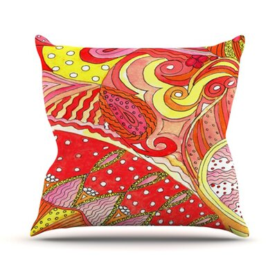 Swirls Throw Pillow Size: 18 H x 18 W