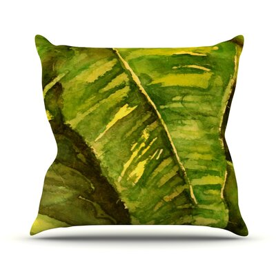 Tropical Garden by Rosie Brown Leaf Throw Pillow Size: 26 H x 26 W x 5 D