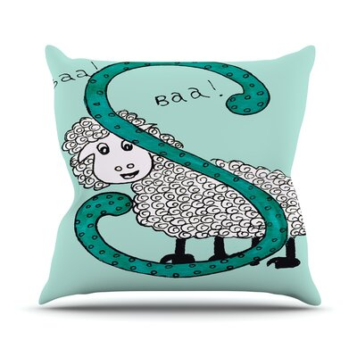 Sis for Sheep by Rosie Throw Pillow Size: 18 H x 18 W x 3 D, Color: Blue