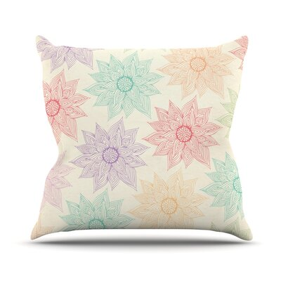 Spring Florals by Pom Graphic Rainbow Throw Pillow Size: 18 H x 18 W x 3 D