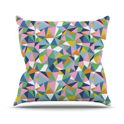Abstraction by Project M Rainbow Abstract Throw Pillow Size: 16 H x 16 W x 3 D