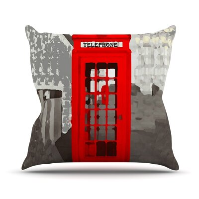 London by Oriana Cordero Throw Pillow Size: 18 H x 18 W x 3 D